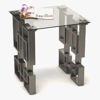 coffee table metal glass 3D model