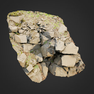 scanned cliff face m 3D model