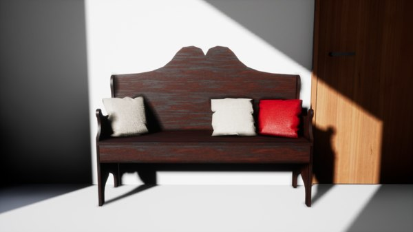 furniture cranberry peony bench 3D