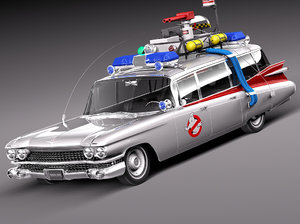 3D ecto-1 ghostbusters car model