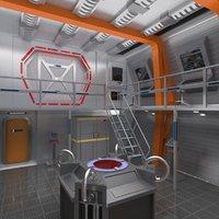 interior space ship 3D