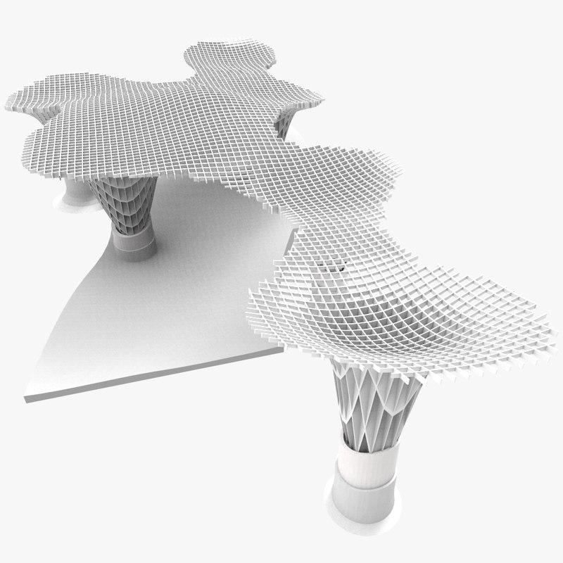 3d model metropol parasol
