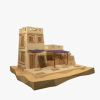 Low Poly Egypt House