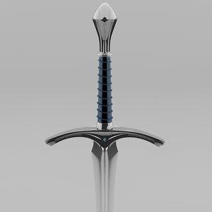 glamdring gandalf sword l047 3D model