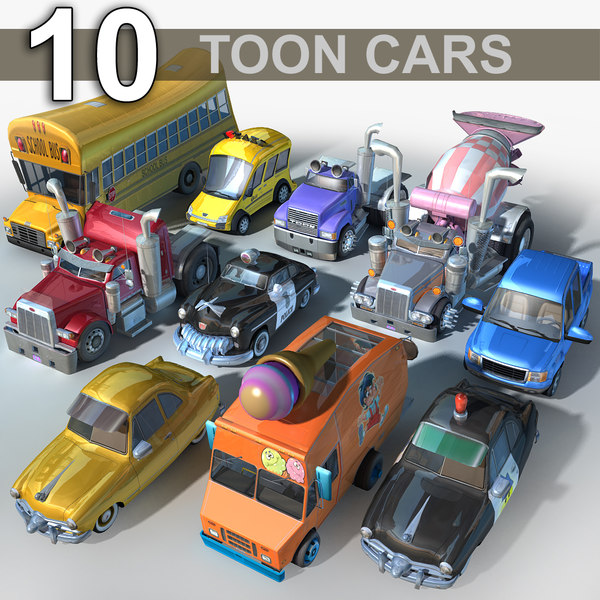 3D model cartoon toon car