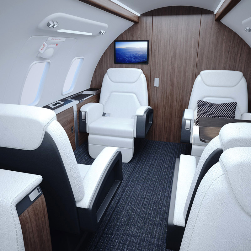 3D bombardier challenger interior