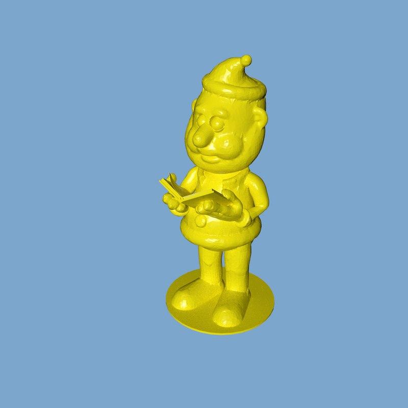 santareads3dprint stl cura 3D model