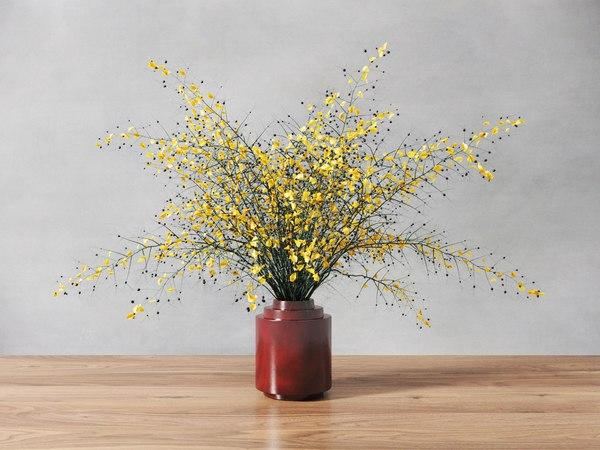 3D modern yellow plant model