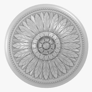 rose ceiling medallion m106 3D