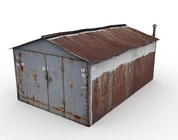 metal garage russia model