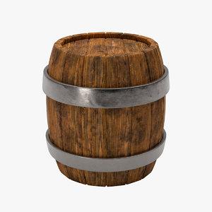 wood barrel 3D