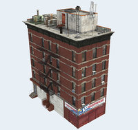 3d building apartment model