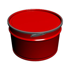 tapered metal barrel 3D model