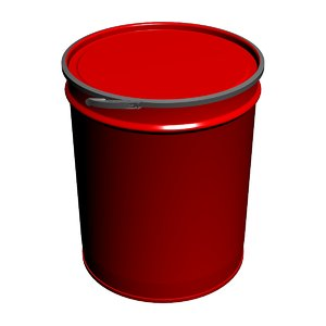 tapered metal barrel rings 3D model