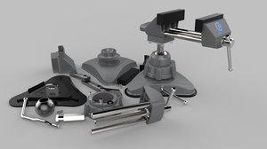 3D portable vice model