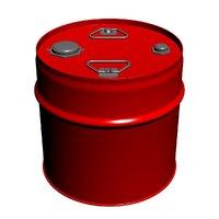 Metal barrel with cylindiric hoop cap