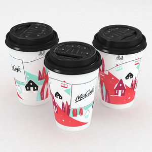mcdonald cup winter 3D model