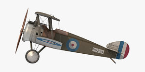 3D model sopwith camel