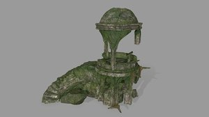 3D old temple