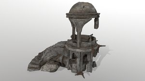 3D old temple model