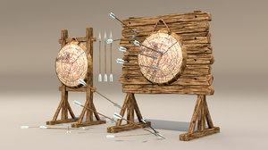 3D target arrow