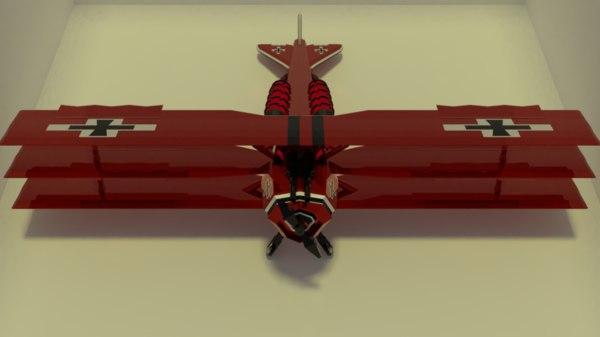 red triplane 3D