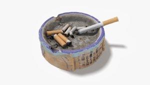 3D ash tray