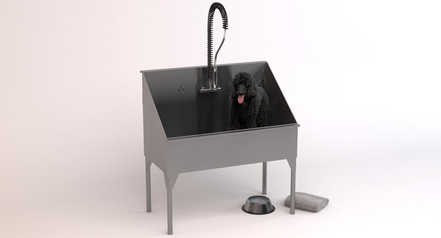 3D dog washing station model
