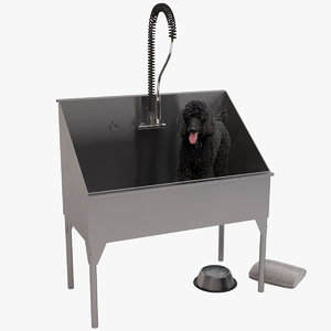 3D dog washing station model