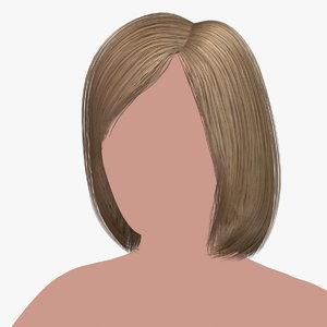 3D hairstyle 12 hair