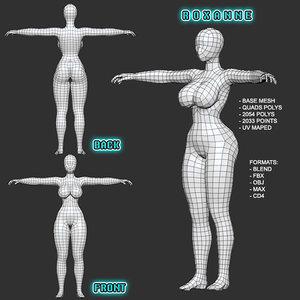 mesh female roxanne 3D model