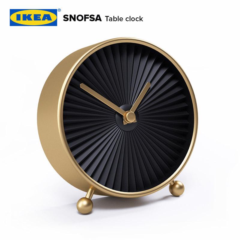 ikea snofsa table clock 3D model