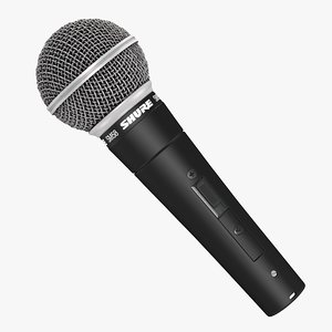 3D microphone shure sm 58