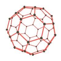 3D fuller fullerene model