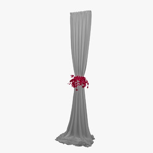 event flower curtain 3D model