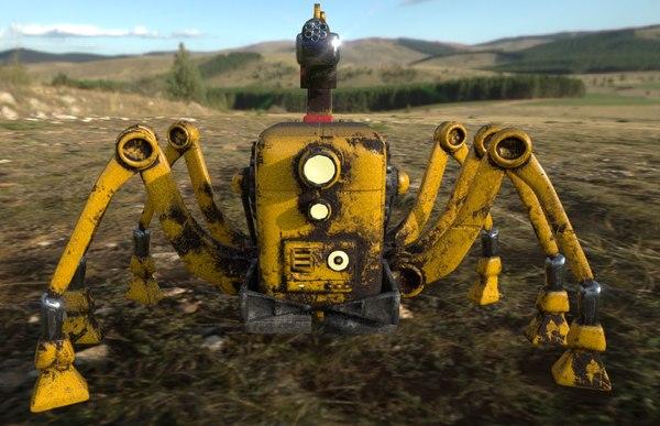 robot crawler scorpion 3D model
