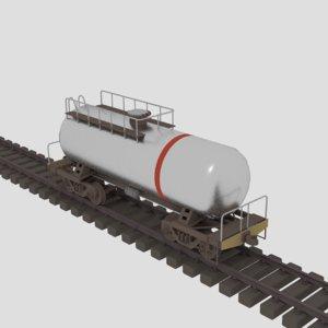 3D oil tank car
