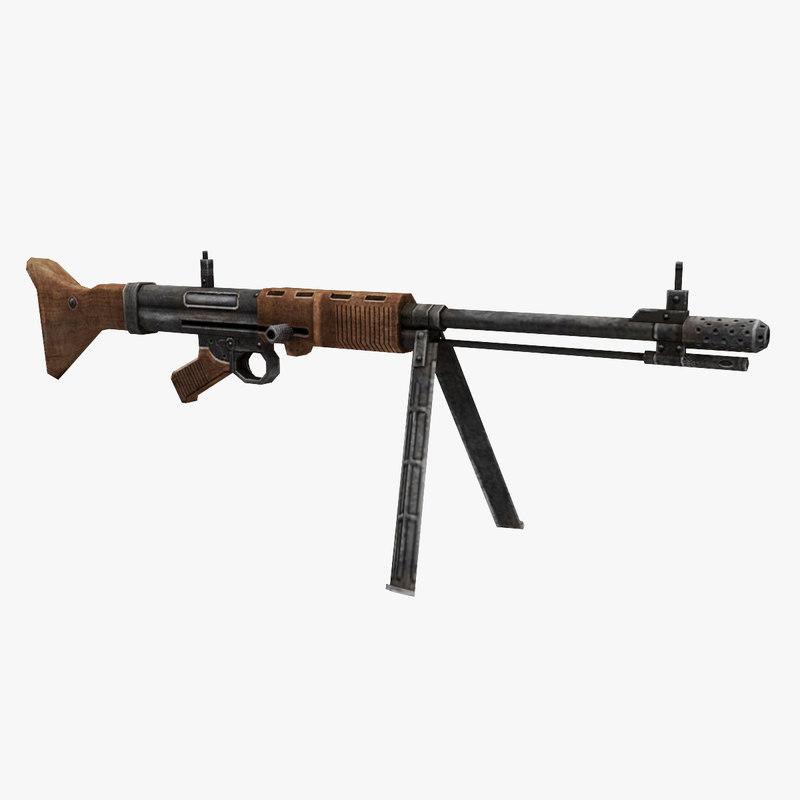 fg-42 gun 3D model