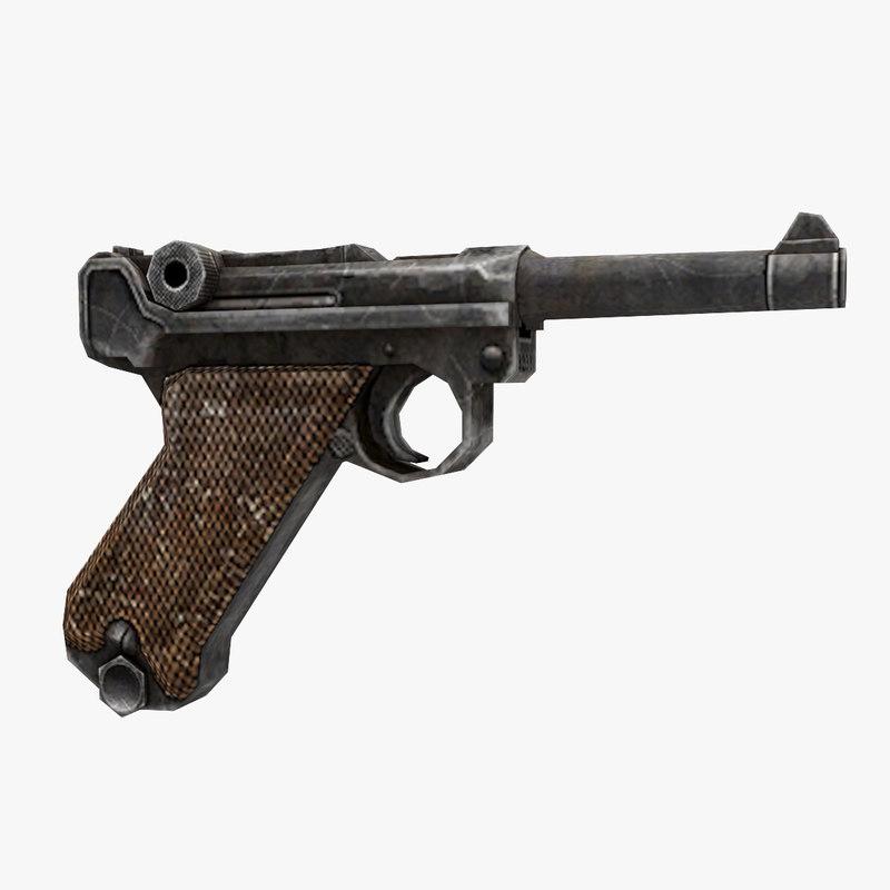 luger gun 3D model