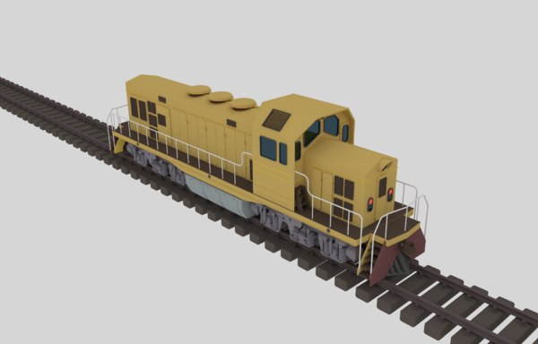 3D model diesel locomotive