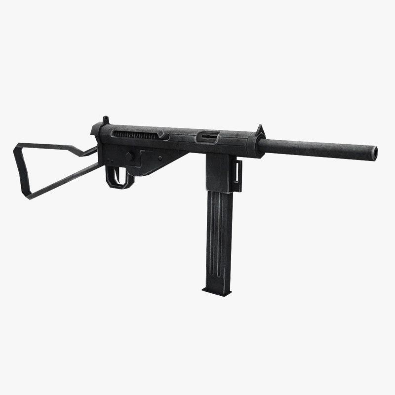 3D model mp3008 gun