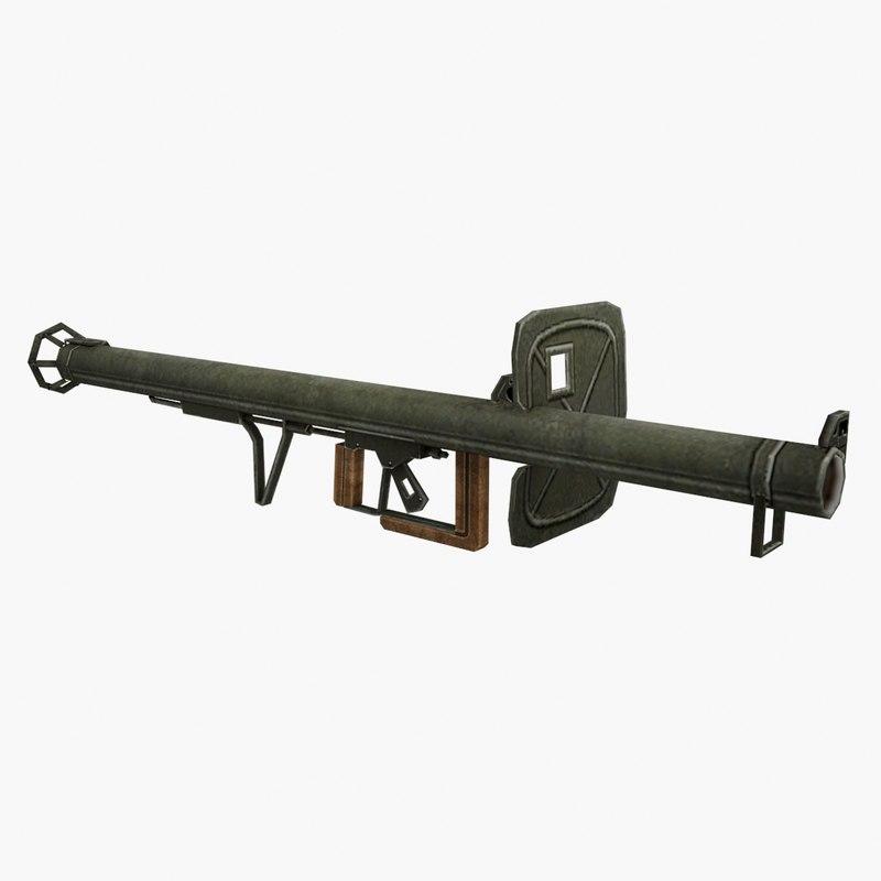 3D model panzerschreck gun