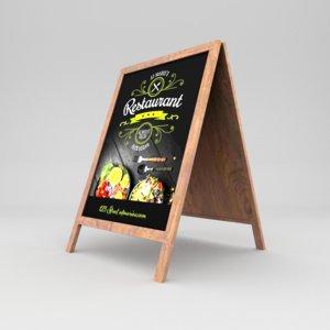 restaurant board 3D model