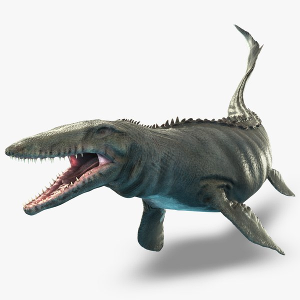 rigged mosasaurus 3D model