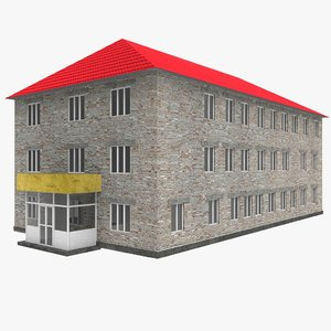 russian school building 3d model
