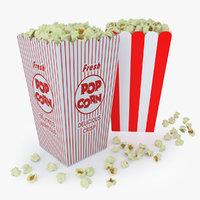 popcorns boxes 3D model