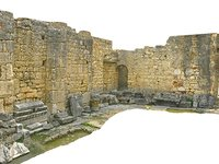 ancient wall rock 3D