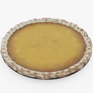 pumpkin pie 3D