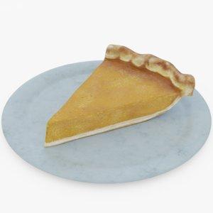 3D pumpkin pie