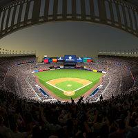 baseball stadium audience animation 3D model